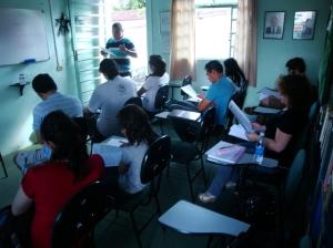 Aula do curso básico, 1ª turma de 2011 - Leciono de la baza kurso - 1-a klaso de 2011