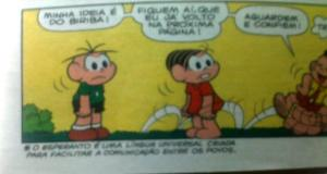 Esperanto-mencio ne infana brazila revuo - Menção ao esperanto em revista infantil brasileira