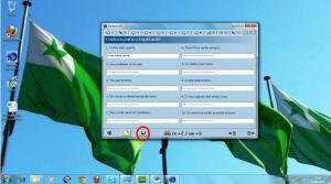 Depois de preenchido toda a tradução o(a) aluno(a) salvará seu exercício clicando no disquete.