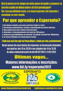 Venha estudar esperanto conosco.