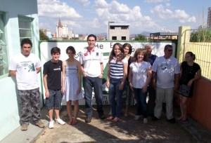 Alunos e instrutores do curso básico de esperanto do primeiro semestre de 2012 Lernatoj kaj instruantoj de la baza kurso de Esperanto en la unua sesmonatoj de 2012